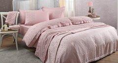 Набор КПБ с покрывалом +полотенце Gelin Home BELLA розовый евро