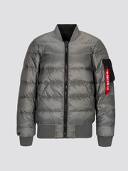 Alpha Industries MA-1 Down Flight Jacket Black/New Silver