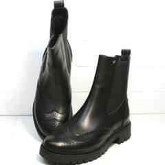 Ботинки демисезонные женские Jina 7113 Leather Black