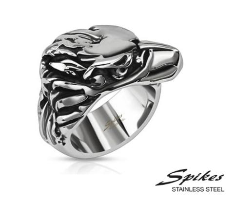 R-Q8062 Мужское кольцо &#34Spikes&#34 из ювелирной стали.