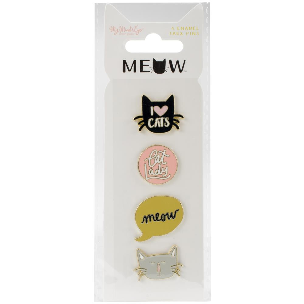 Набор металлических украшений Meow Enamel Painted Pins -4шт