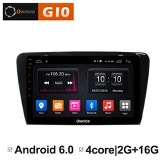Штатная магнитола на Android 8.1 для Skoda Octavia A7 Ownice G10 S1916E