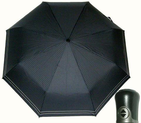 Купить онлайн Зонт складной Maison Perletti 16229-blue Geometric в магазине Зонтофф.