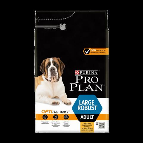Purina Pro Plan Adult Optibalance Large Robust Сухой корм для собак крупных пород с мощным телосложением с курицей и рисом