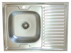 Мойка КромРус S-220 для кухни из нержавеющей стали, правая