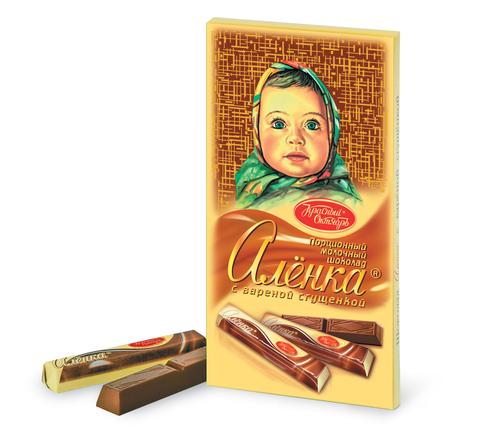 """Шоколад """"Алёнка"""" в стиках  с вареной сгущенкой 100г"""