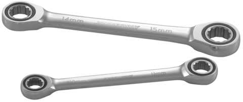 W680809 Ключ гаечный накидной трещоточный, 8х9 мм