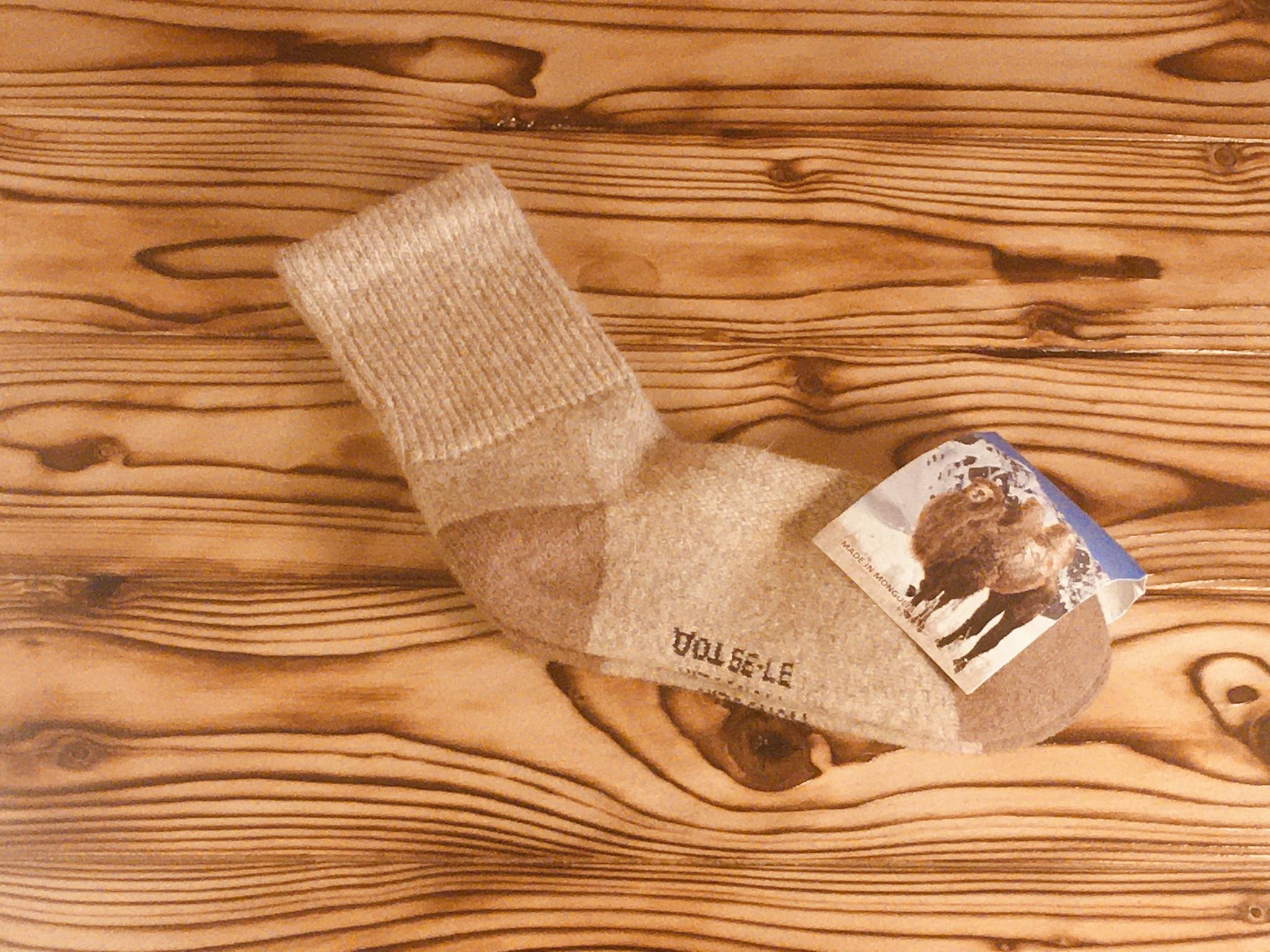 Носки из верблюжьей шерсти / р. 40-42 (Светло- коричневые) фото3