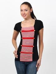 008151-3 футболка женская, черная