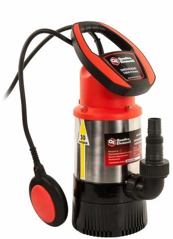 Дренажный насос QUATTRO ELEMENTI Drenaggio 1000 H Inox (900 Вт, 5500 л/ч, для чистой, 30 м, 7,75кг, нерж.сталь) Напорный