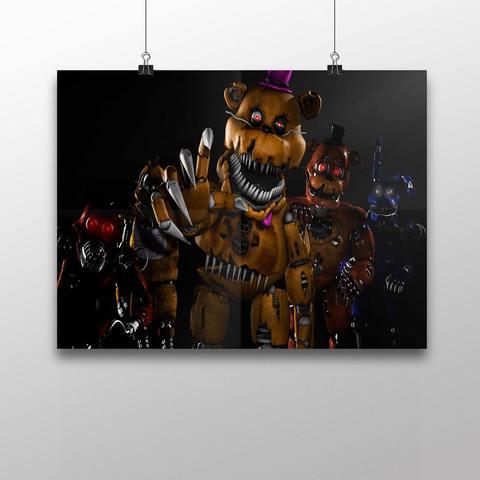 Плакат с героями ФНАФ №3