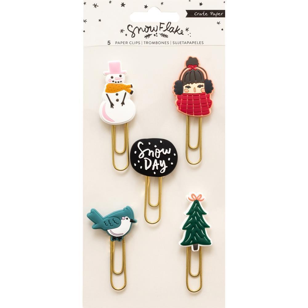 Закладки-декоративные Crate Paper - Snowflake Decorative Clips 5шт