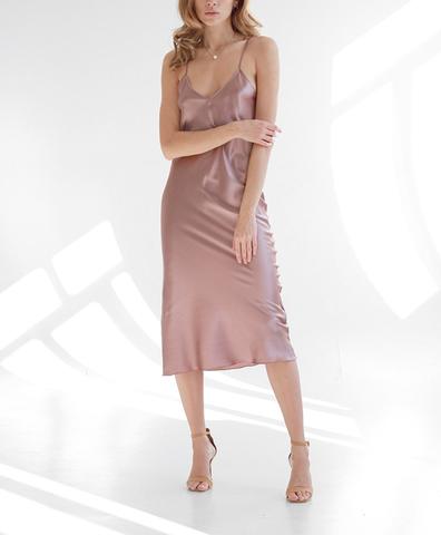 Платье-комбинация Розовый Капучино