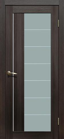 Дверь La Stella 239, стекло матовое, цвет дуб мокко, остекленная