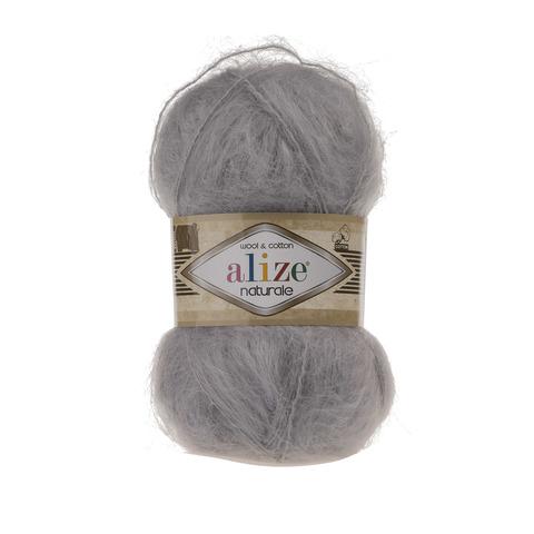 Пряжа Alize Naturale 344 угольно-серый