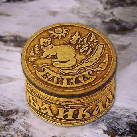 Шкатулка Байкальский соболь на бересте