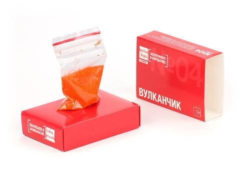 Состав набора №04 - Вулканчик - Эксперимент в коробочке - Простая Наука