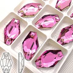 Купить пришивные стразы оптом форма Гексагон Light Rose, Hexagon недорого