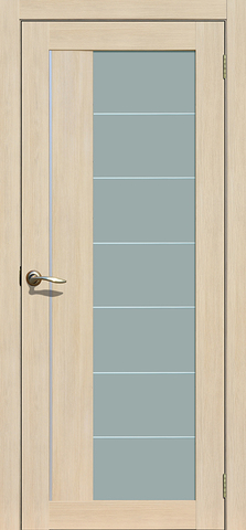 Дверь La Stella 239, стекло матовое, цвет ясень латте, остекленная