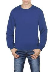 4054-2 футболка мужская дл. рукав, синяя