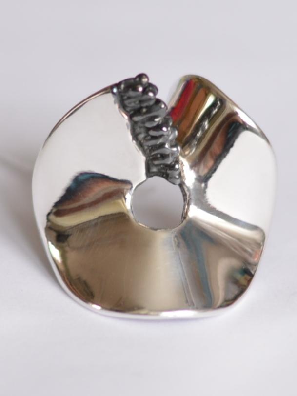 Бублик-шарфик (кольцо из серебра)