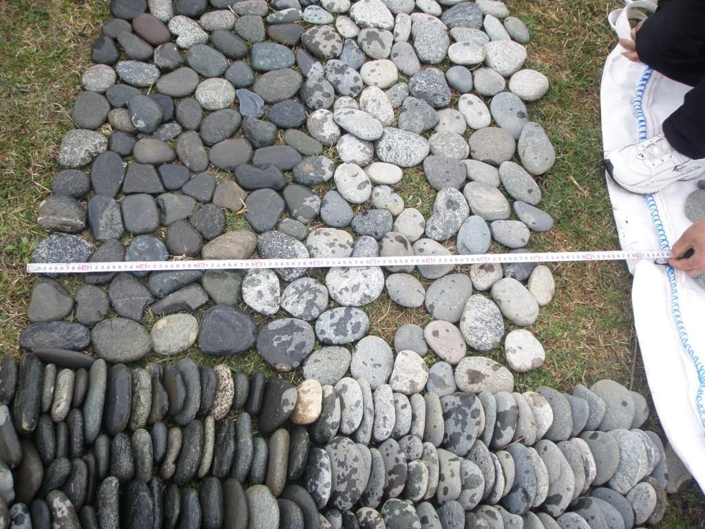 булыжник отборный серый, примеры мощения и облицовки