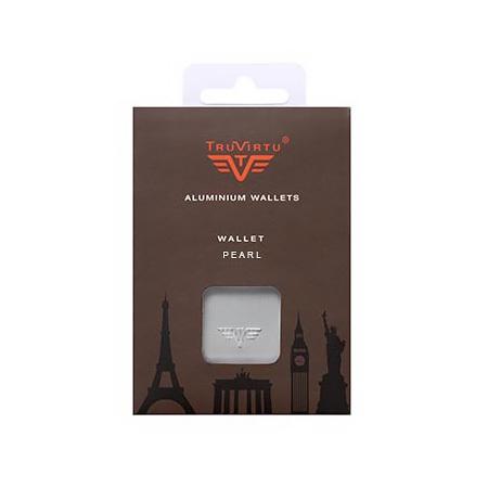 Визитница c защитой Tru Virtu PEARL, цвет темно-серый , 104*67*17 мм
