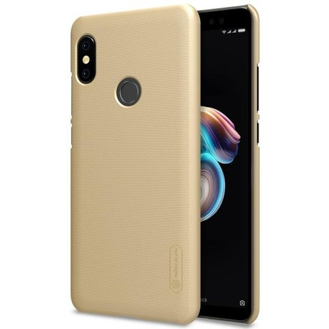 Чехол для Xiaomi Redmi Note 5 Nillkin Frosted Shield (Золотой)