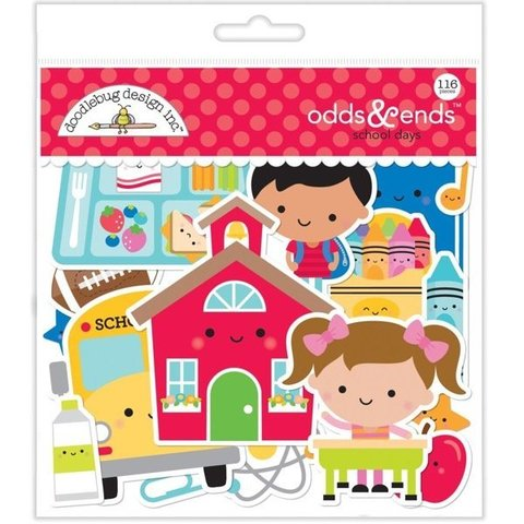 Высечки Doodlebug Odds & Ends Die-Cuts School Days, 116шт.