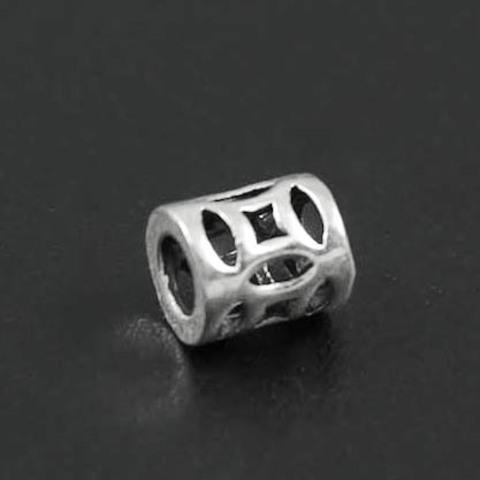 Бусина Геометрия 6х5 мм серебро 925