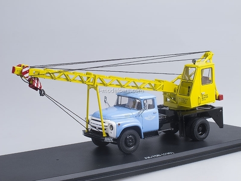ZIL-130 AK-75V blue-yellow 1:43 Start Scale Models (SSM)