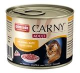 ANIMONDA CARNY ADULT Консервы для кошек с Курицей и уткой 1х200 г. (83497/83554)