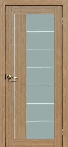 Дверь La Stella 239, стекло матовое, цвет тиковое дерево, остекленная