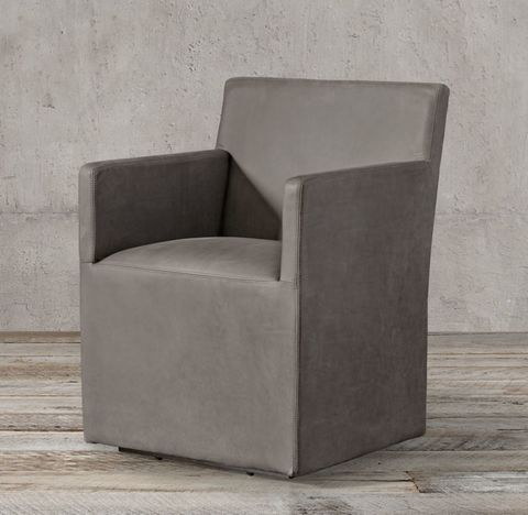 Ellison Track Arm Leather Armchair