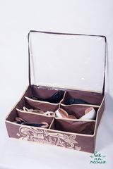 кофр для обуви на 6 пар, горький шоколад