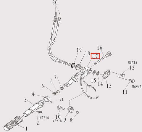 Корпус румпеля для лодочного мотора F9.8 Sea-PRO (7-17)