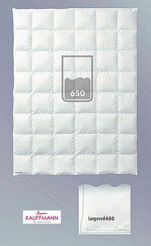 Одеяло пуховое очень легкое 200х200 Kauffmann Legend 650