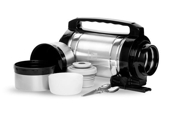 Термос универсальный (для еды и напитков) Арктика (3 литра) с супер-широким горлом, стальной