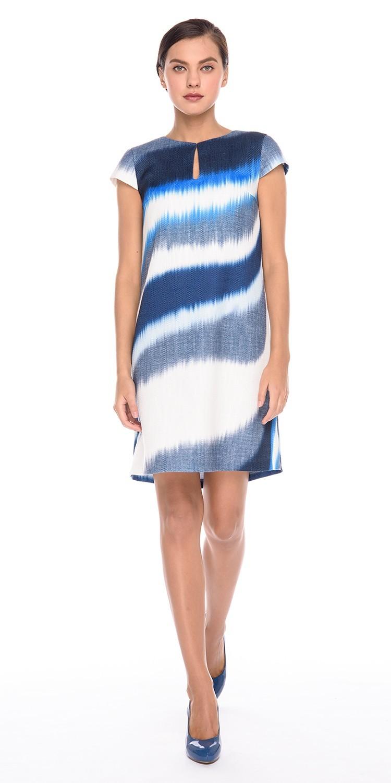 Платье З177-500 - Платье прямого силуэта из итальянской ткани с эффектным принтом. Хорошо смотрится в комплекте с жакетом из такой же ткани. Подкладка - тонкая хлопковая бязь.