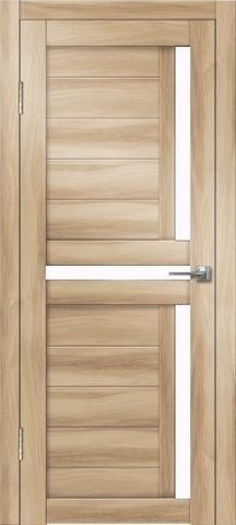 Дверь Дверная Линия Палермо-1, стекло снег, цвет барон светлый, остекленная