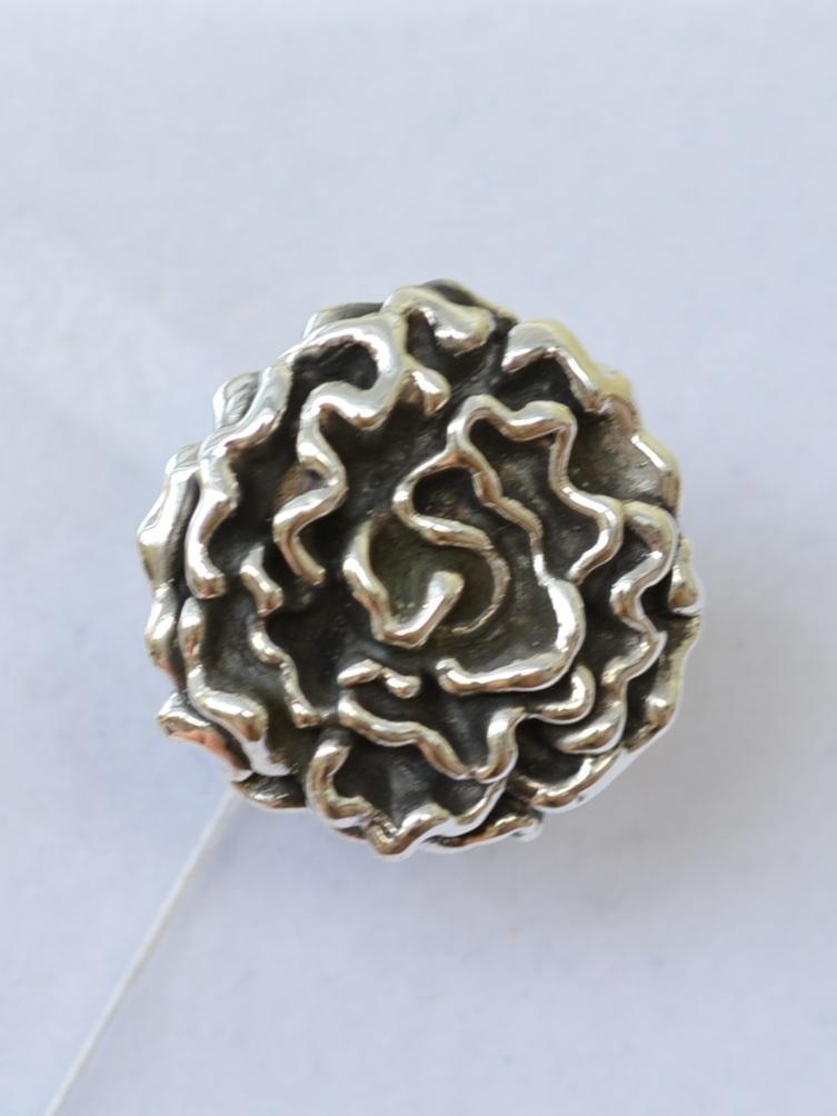 Пион (кольцо из серебра)