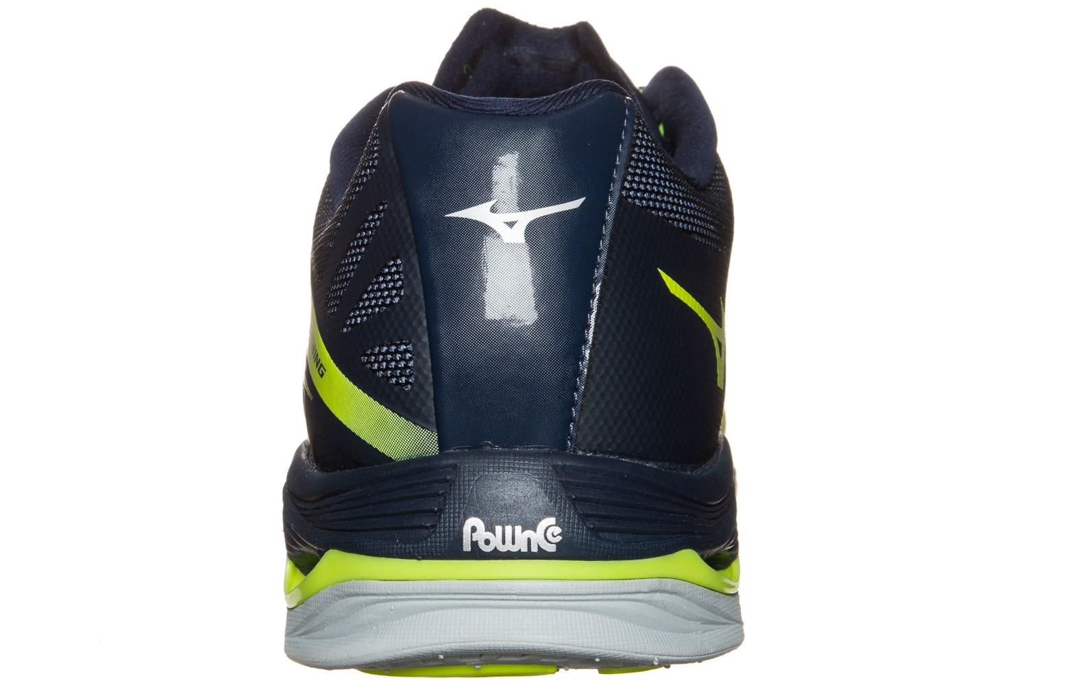 Мужские волейбольные кроссовки Mizuno Wave Lightning Z2 (V1GA1600 44) желтые сзади фото