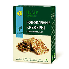 Крекеры конопляные, Компас Здоровья, с морской капустой, 150 г