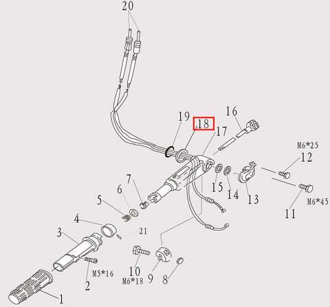 Шайба румпеля для лодочного мотора F9.8 Sea-PRO (7-18)