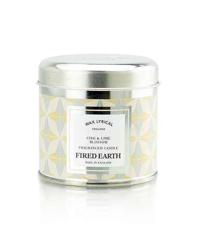 Свеча ароматическая в металле Индийский чай и цветок липы, Wax Lyrical