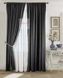 Комплект штор Луи (чёрный). Шторы из стриженного бархата.