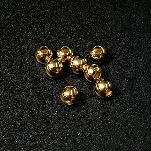 Бусина гладкая 4 мм цвет золото