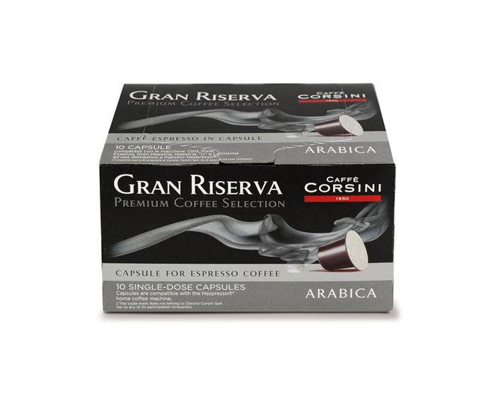 Кофе в капсулах Caffe Corsini Gran Riserva Arabica, 10 капсул (Каффе Корсини)
