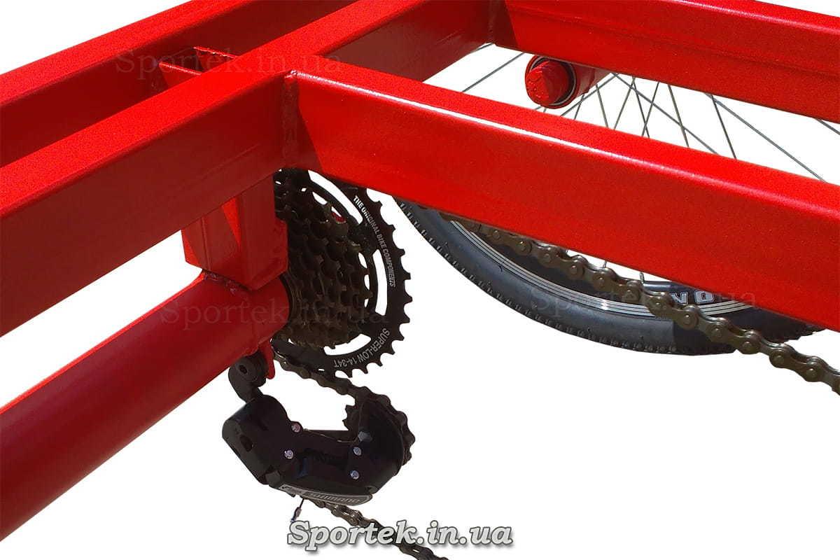 Переключение передач на трехколесном велосипеде