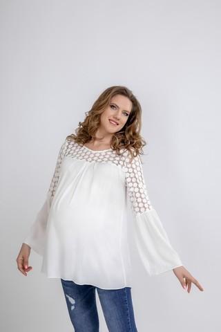 Блузка для беременных 09590 кремовый